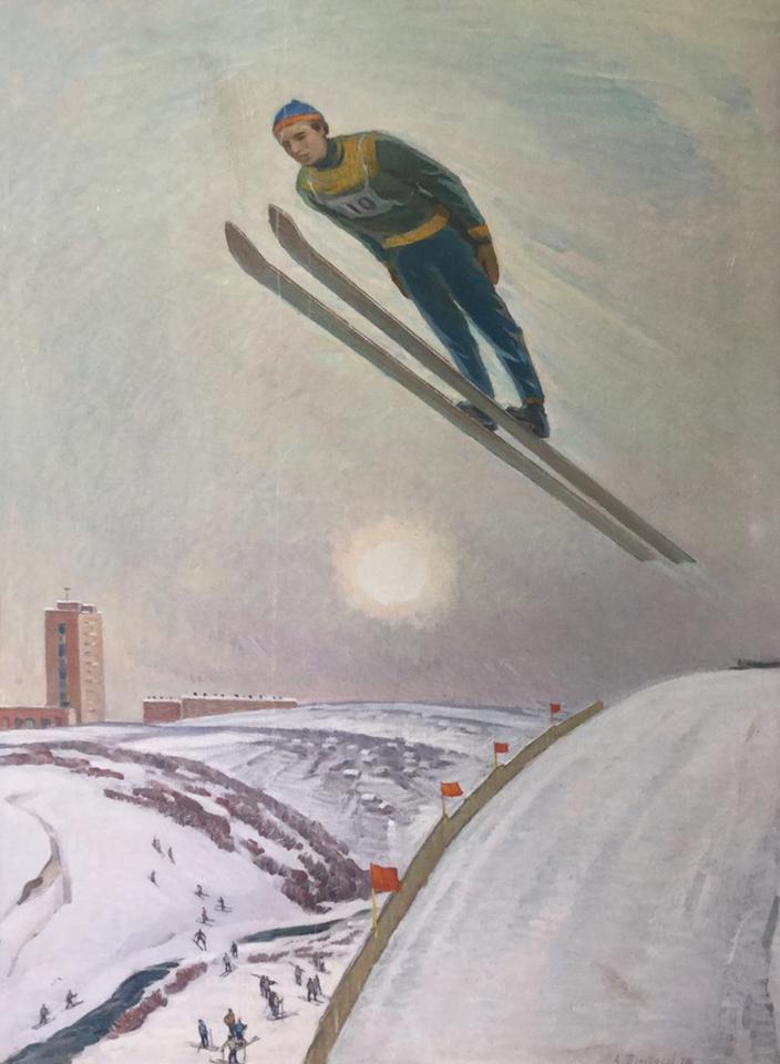 А.Н. Тумбасов, 1976 год. Холст, масло
